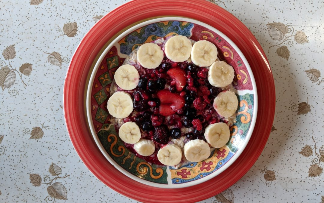 Recent Breakfast: Overnight Oatmeal: Eating In
